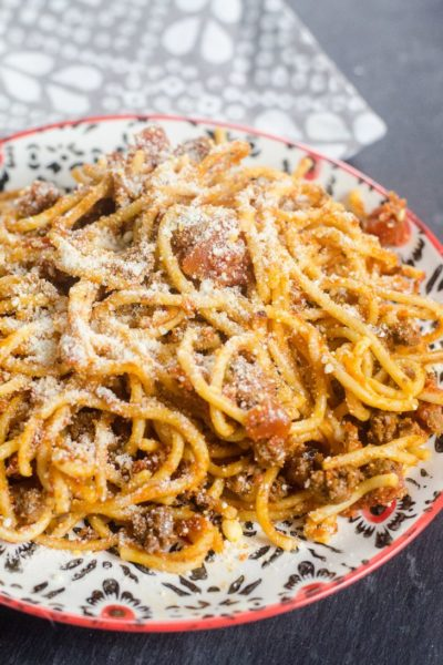 Instant Pot Spaghetti and Meat Sauce