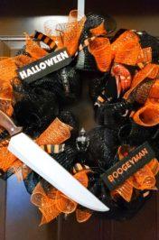 Michael Myers Halloween Wreath