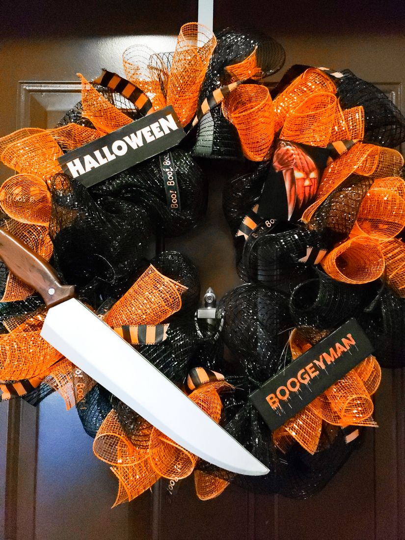Michael Myers Halloween Wreath