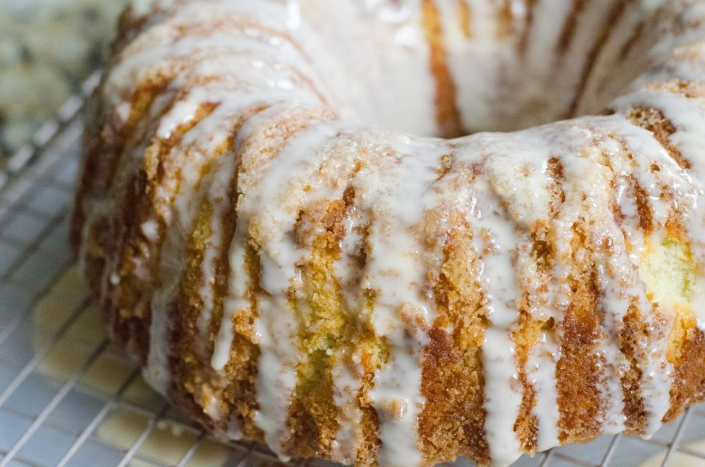 Irish Cream Iced Rum Bundt Cake
