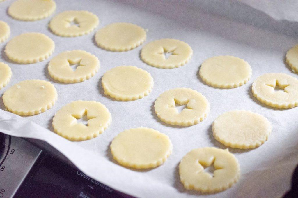 Lingonberry Linzer Cookies