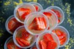 Strawberry Champagne Jello Shots