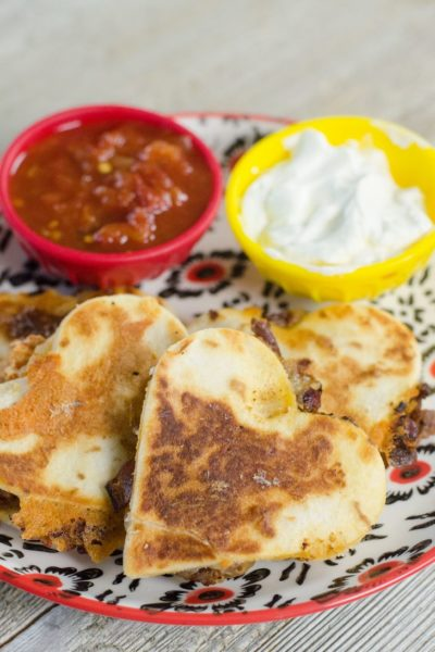 Heart Shaped Taco Quesadillas