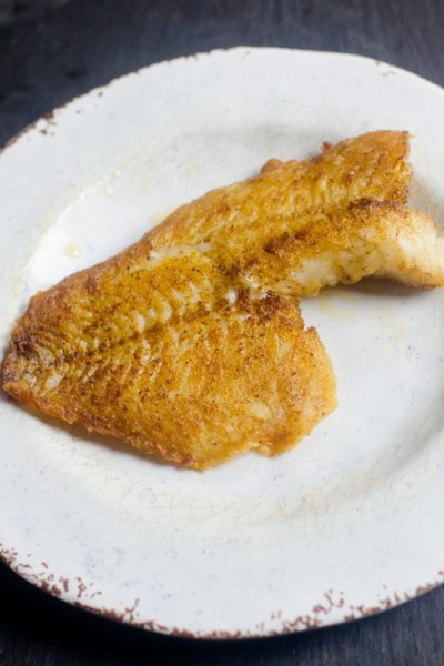 Pan Seared Cajun Bass
