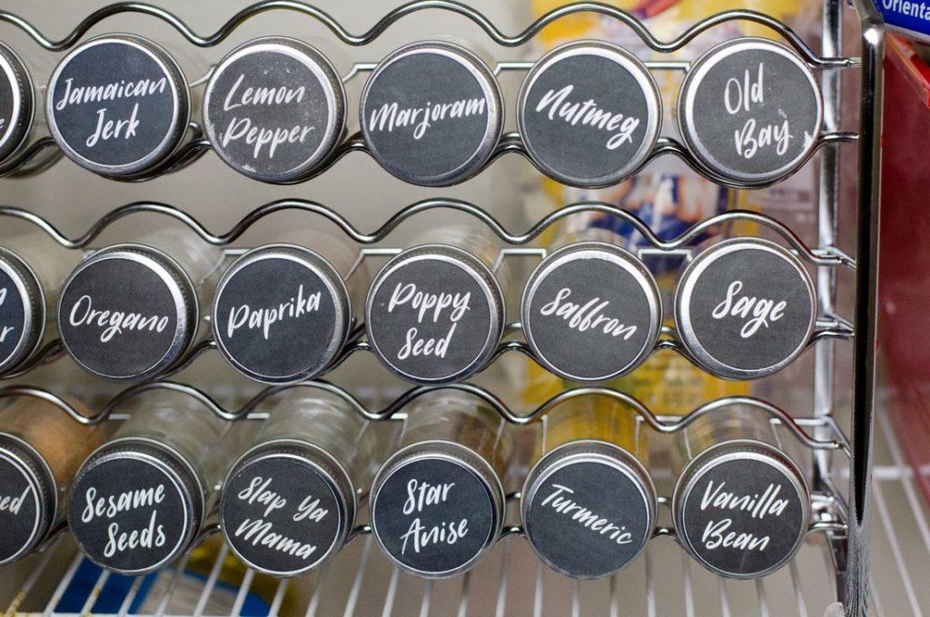Spice Jar Printable Pantry Organization