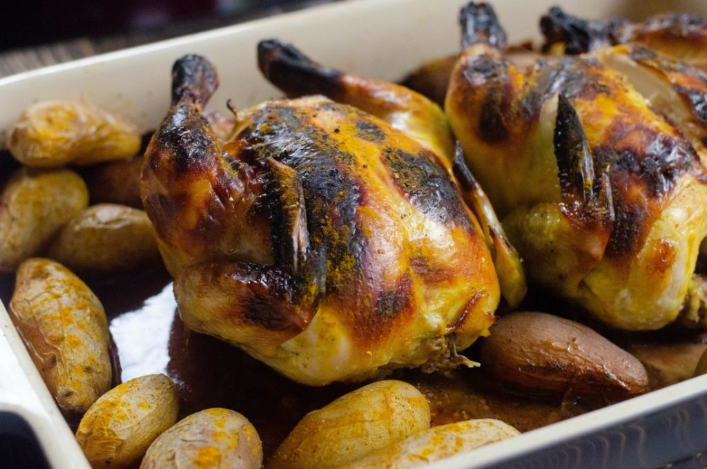 Honeyed Chicken With Little Finger Potatoes