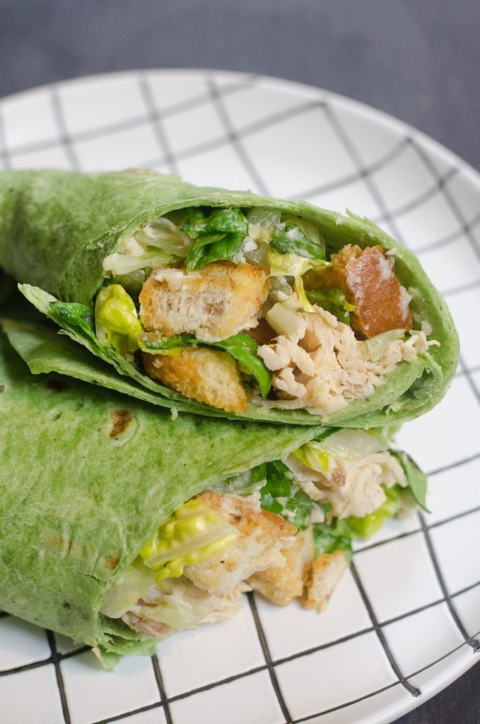 Instant Pot Caesar Chicken Wraps
