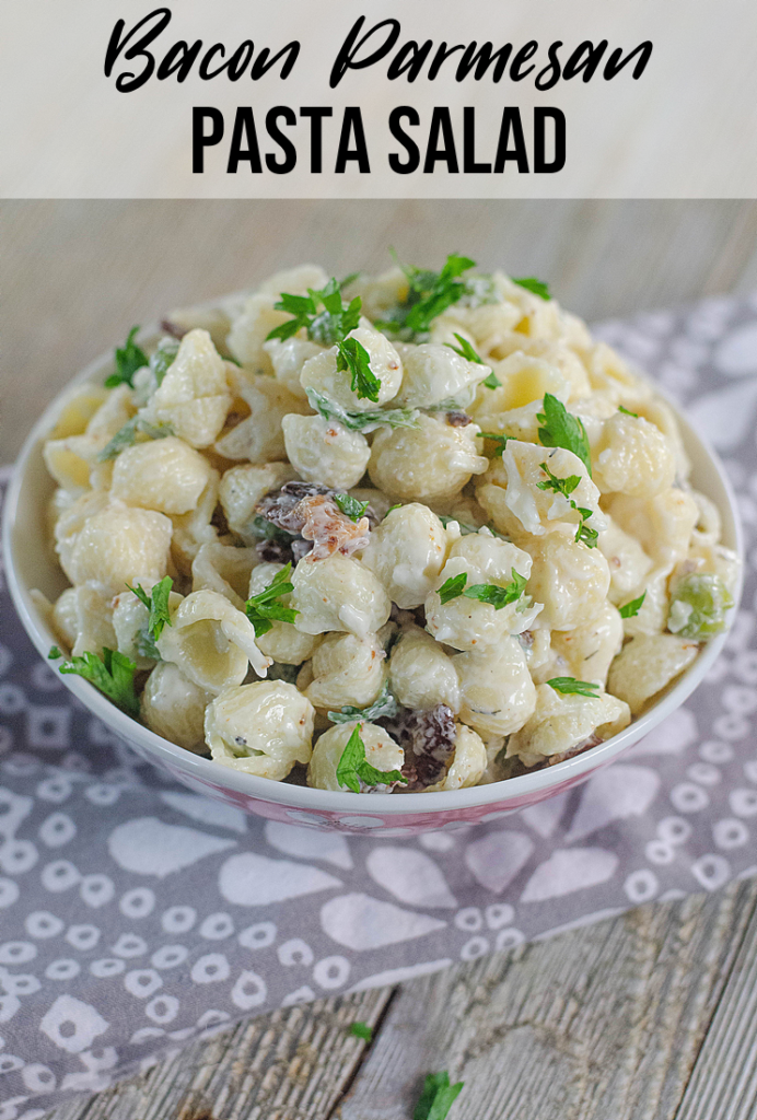 Bacon Parmesan Pasta Salad Pin
