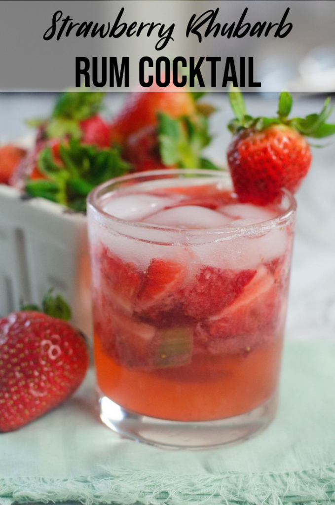 Strawberry Rhubarb Rum Cocktail