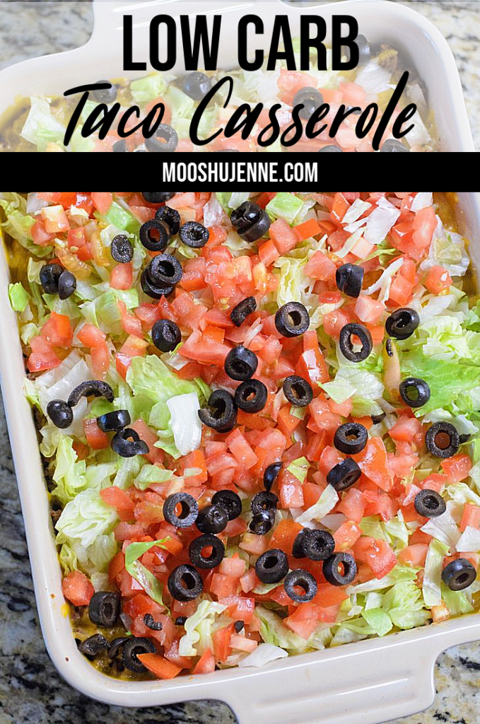 Budget friendly ground beef low carb taco casserole