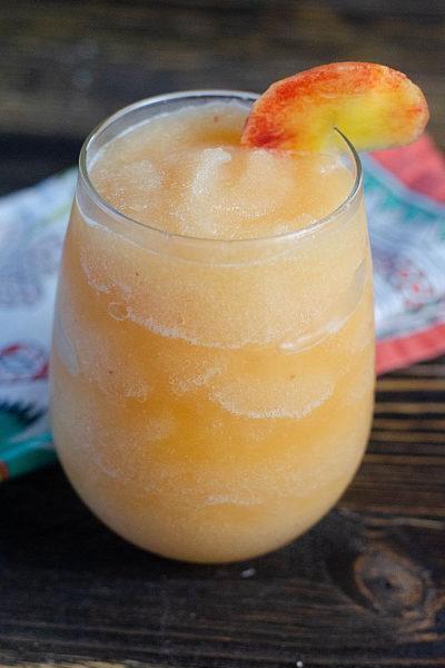 Peach Bourbon Slush