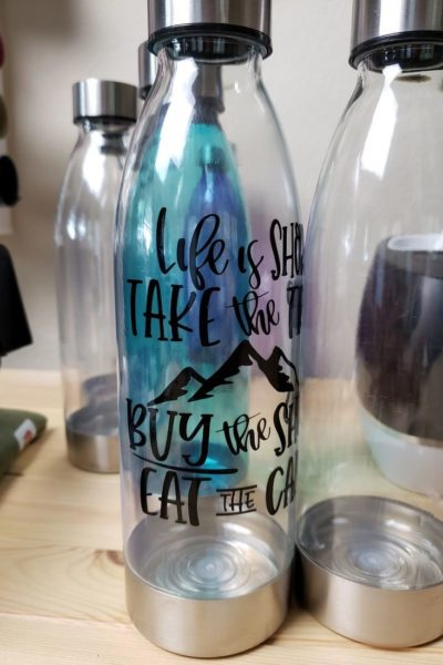Travel Quote Water Bottle