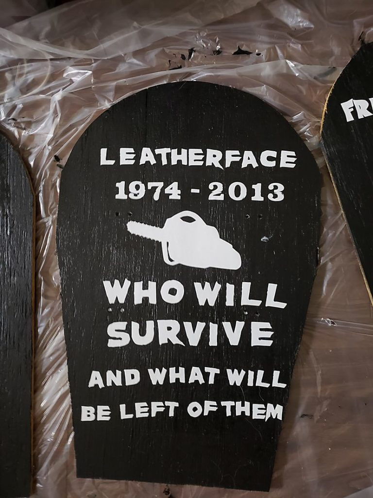 Leatherface Halloween Gravestone