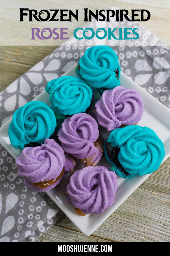 Frozen Inspired Rose Cookies