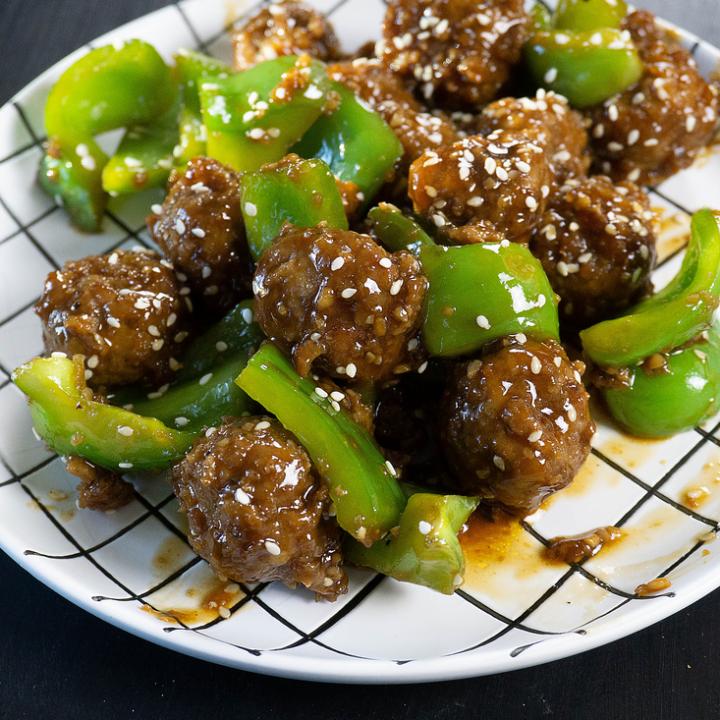 Instant Pot Pepper Beef Meatballs