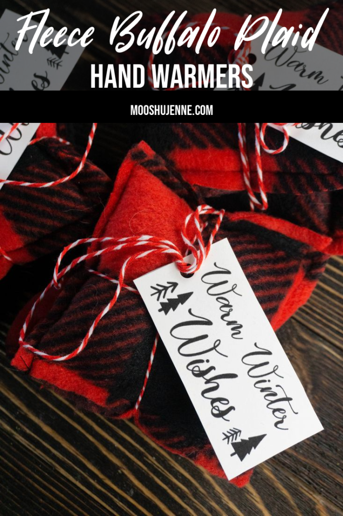 Fleece Buffalo Plaid Hand Warmers