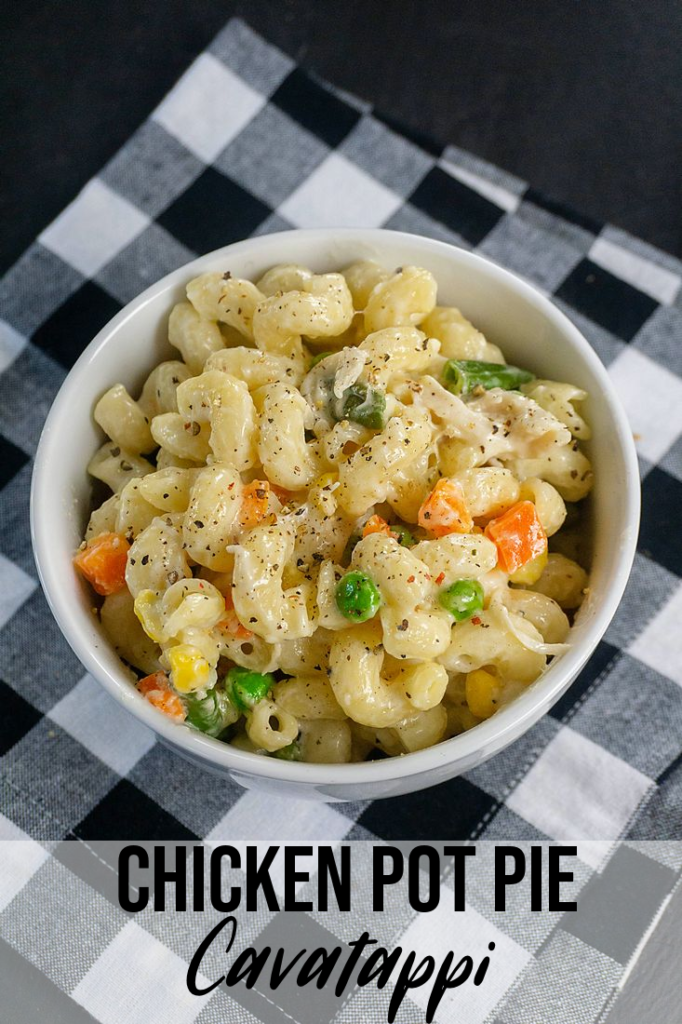 Chicken Pot Pie Cavatappi