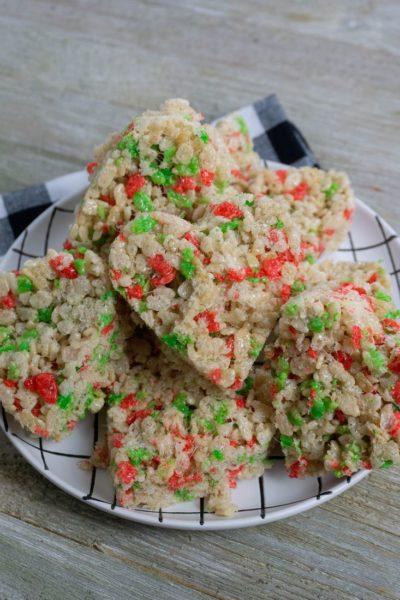 Rice Krispie Heart Holiday Treats