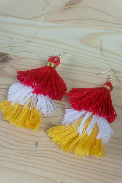 Chinese New Year Tassel Earrings