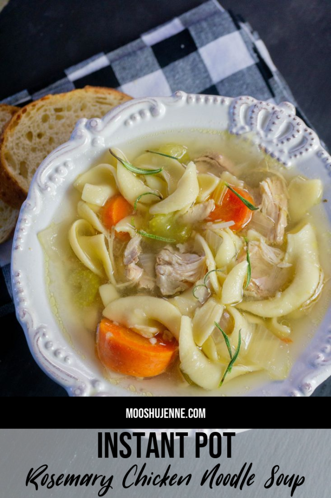 Instant Pot Rosemary Chicken Noodle Soup
