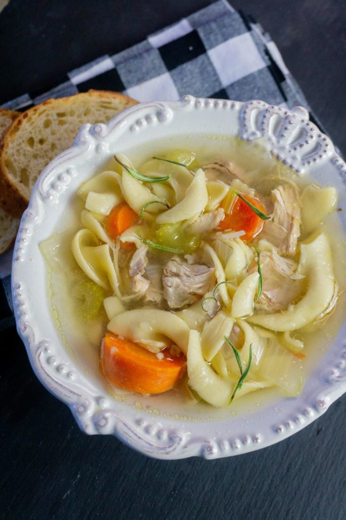 Instant Pot Rosemary Chicken Noodle Soup 2