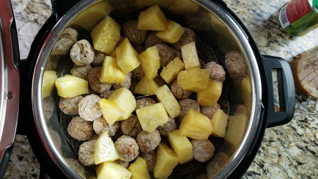 Instant Pot Pineapple Teriyaki Meatballs