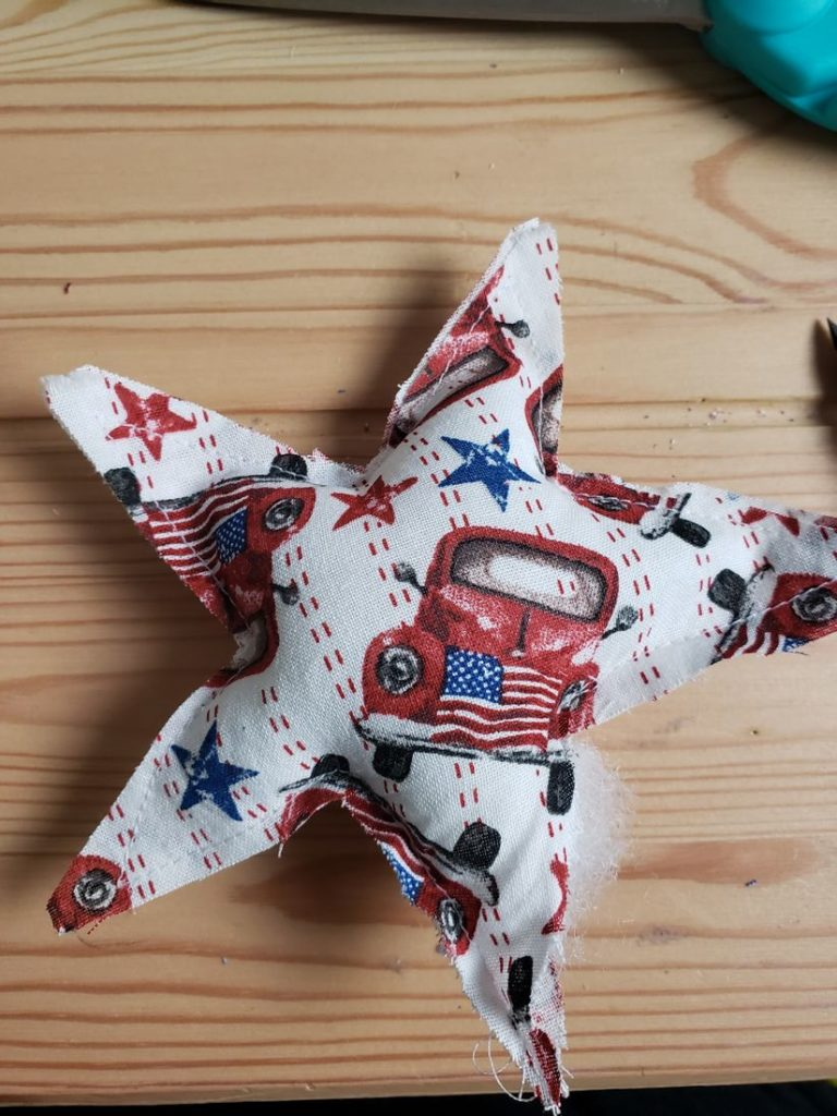 Red Truck Star On Wood