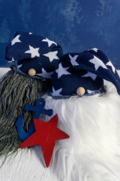 July 4th Gnomes with starred hats