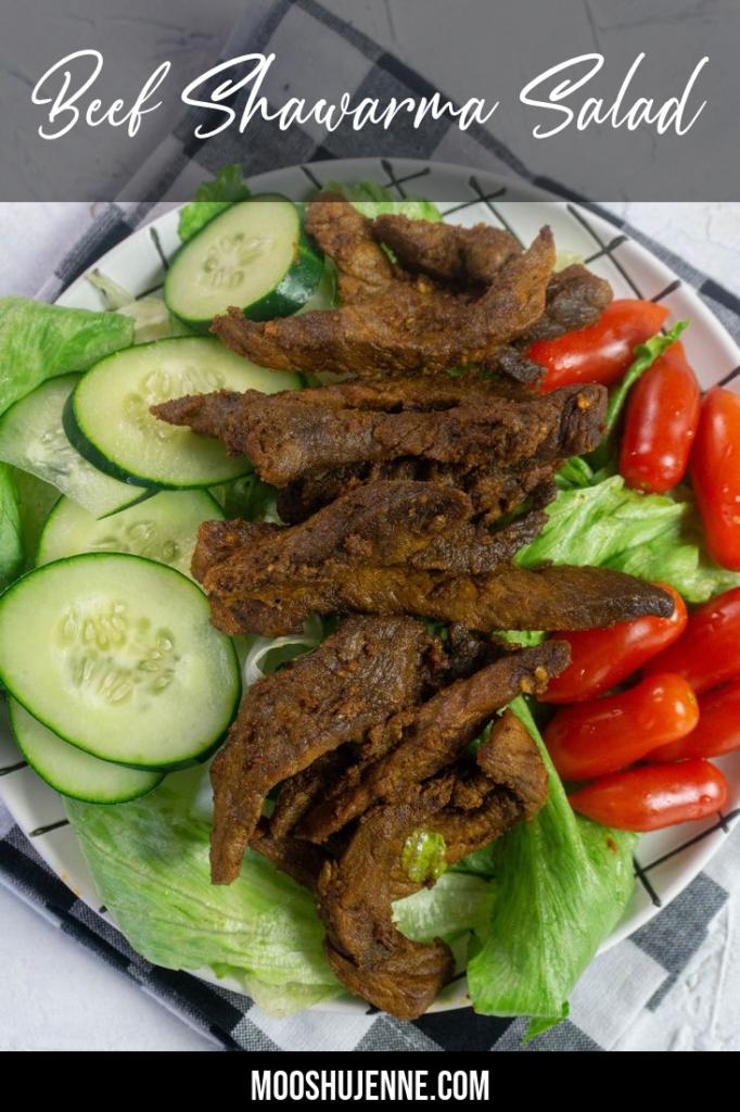 Beef Shawarma Salad Pinterest Image