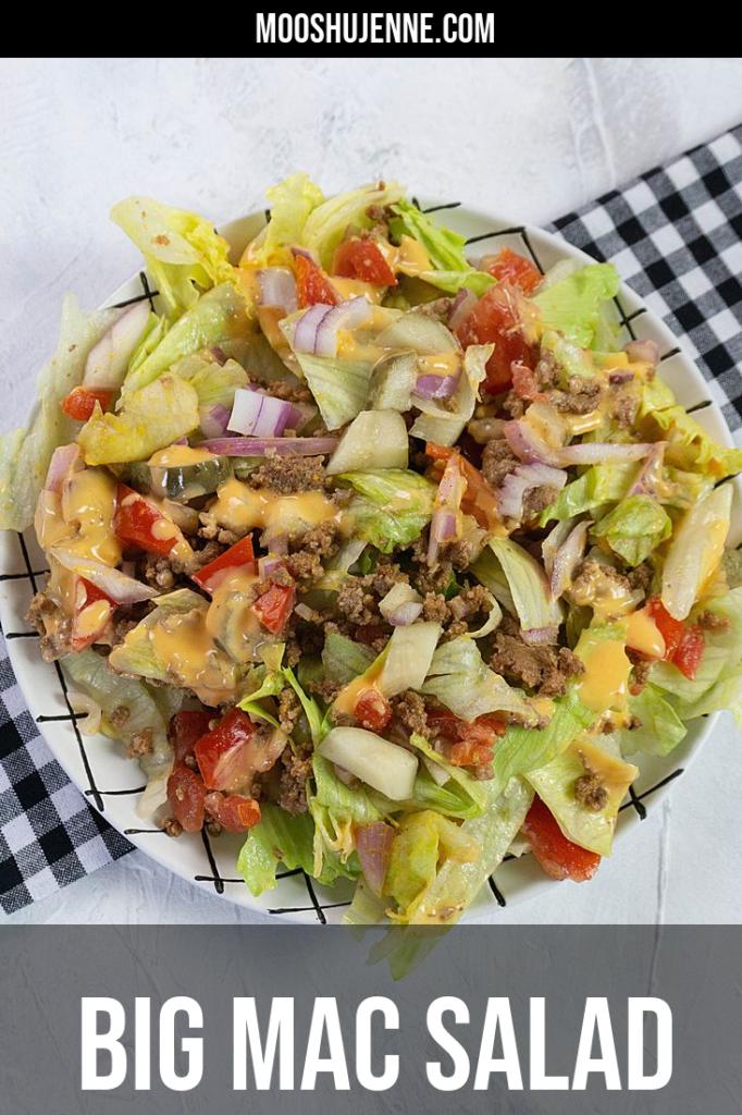 Big Mac Salad Pinterest Image