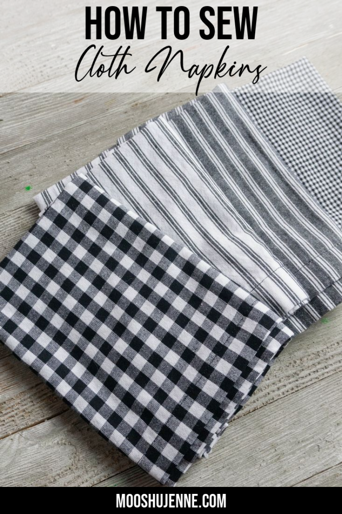 How To Sew Cloth Napkins Pinterest Pin