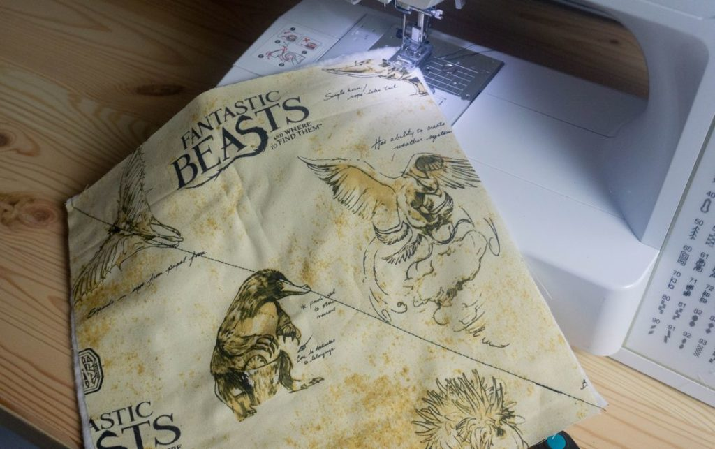 Sewing Harry Potter fabris