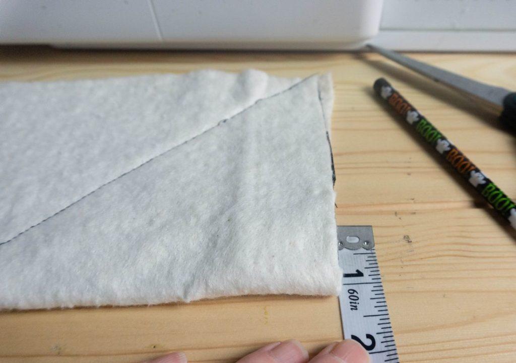 Padding sewn across