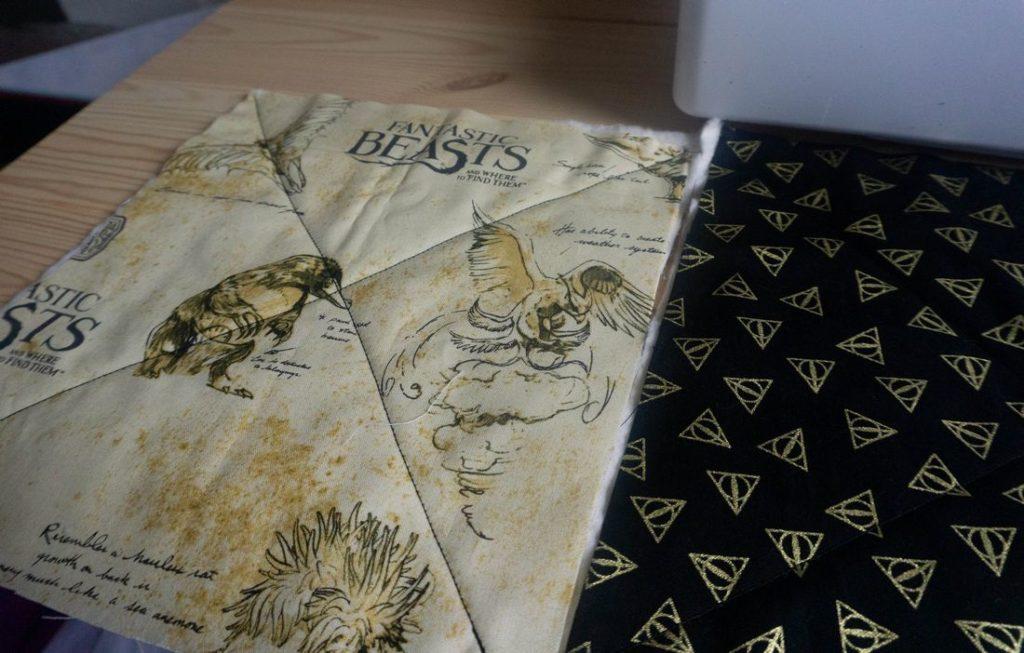 Harry Potter Fabrics stitched
