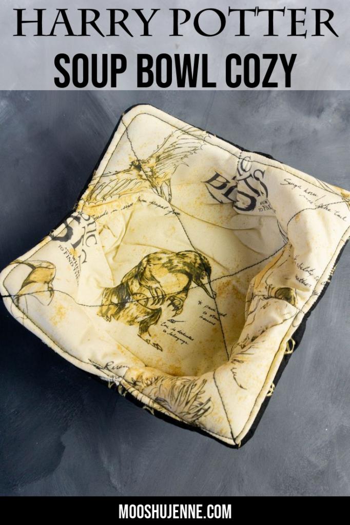 Harry Potter Soup Bowl Cozy Pinterest Image