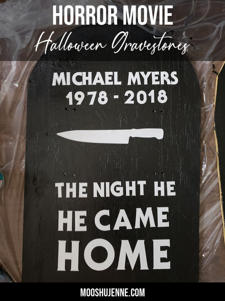 Horror Movie Halloween Gravestones