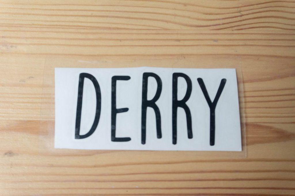 Derry Vinyl Sticker