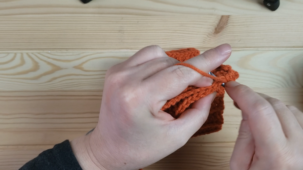 Crocheting pieces together