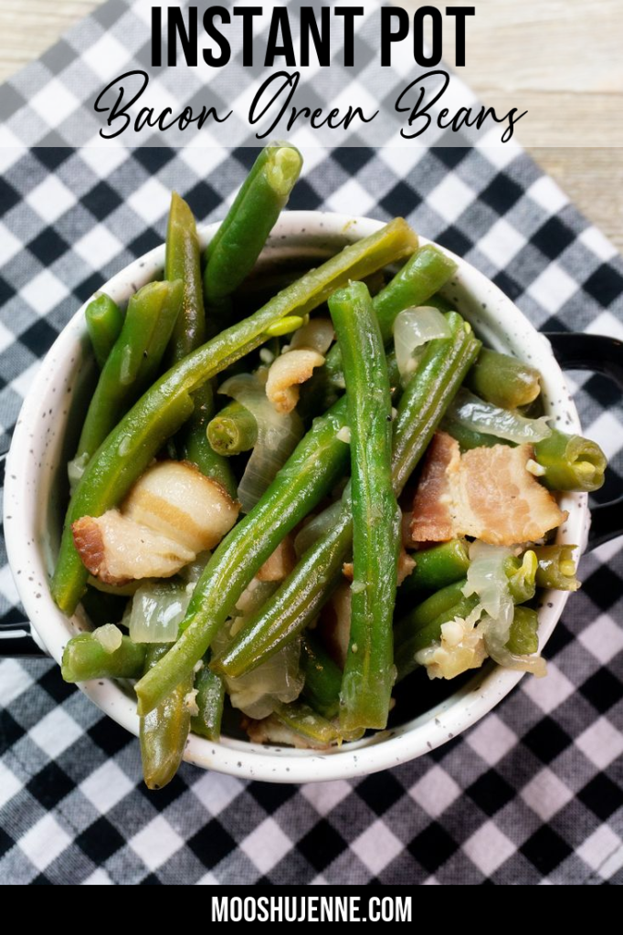 Instant Pot Bacon Green Beans in a Bowl PIn