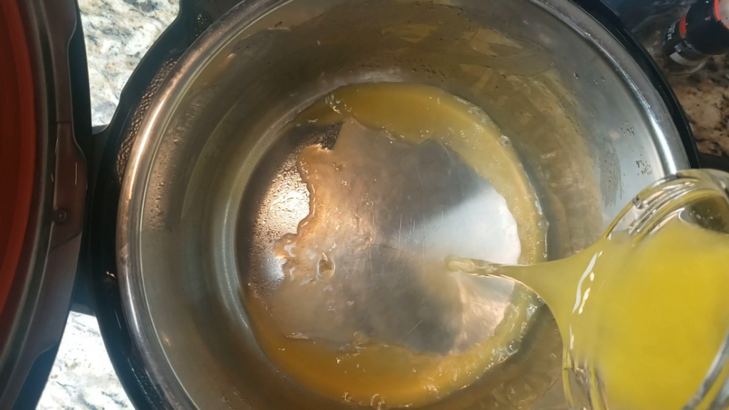 orange juice inside the instant pot