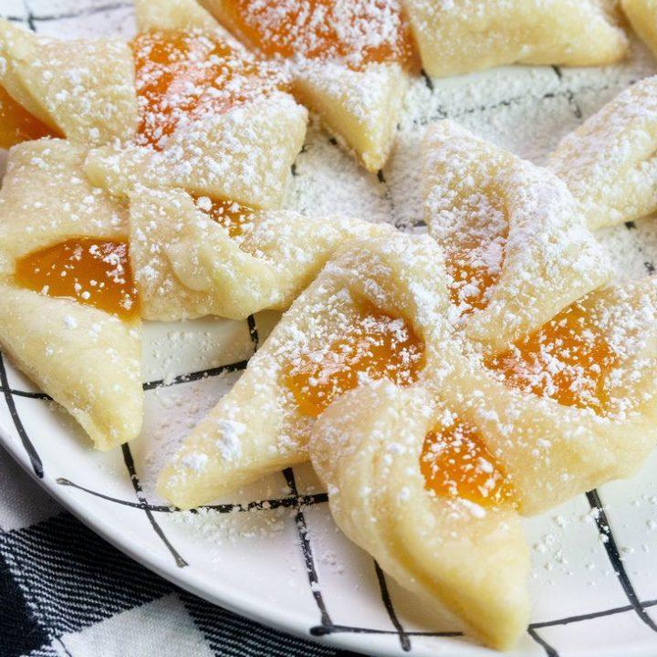 Finnish Apricot Pinwheel Cookies