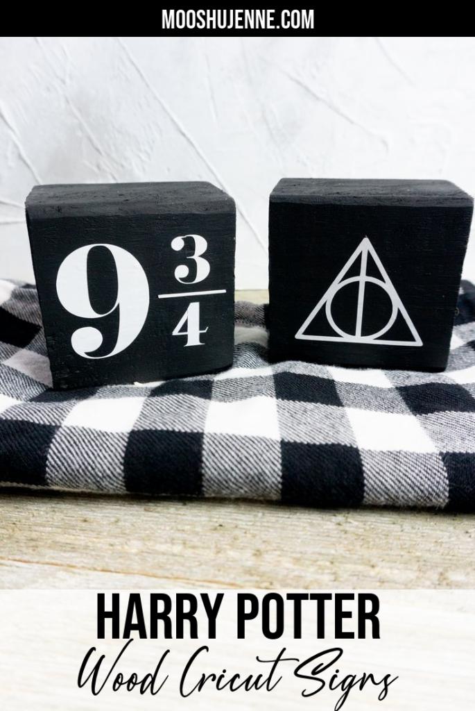 Harry Potter Wood Cricut Signs