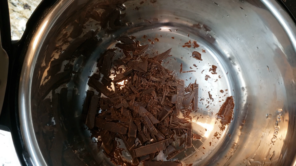 chopped chocolate in the instant pot