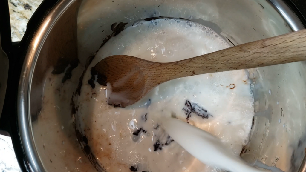 Hot chocolate in the instant pot