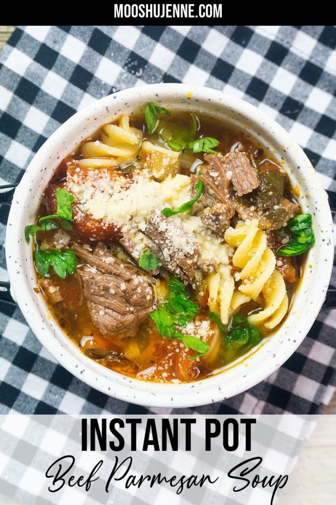 Instant Pot Beef Parmesan Soup