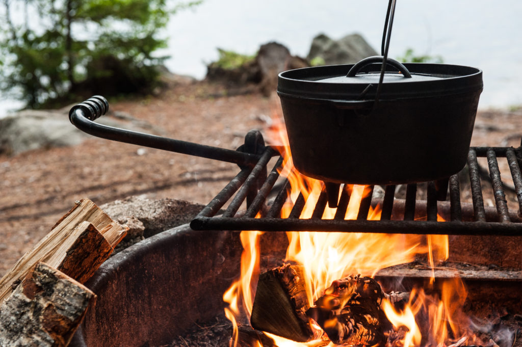Camp Cooking In A Dutch Oven
