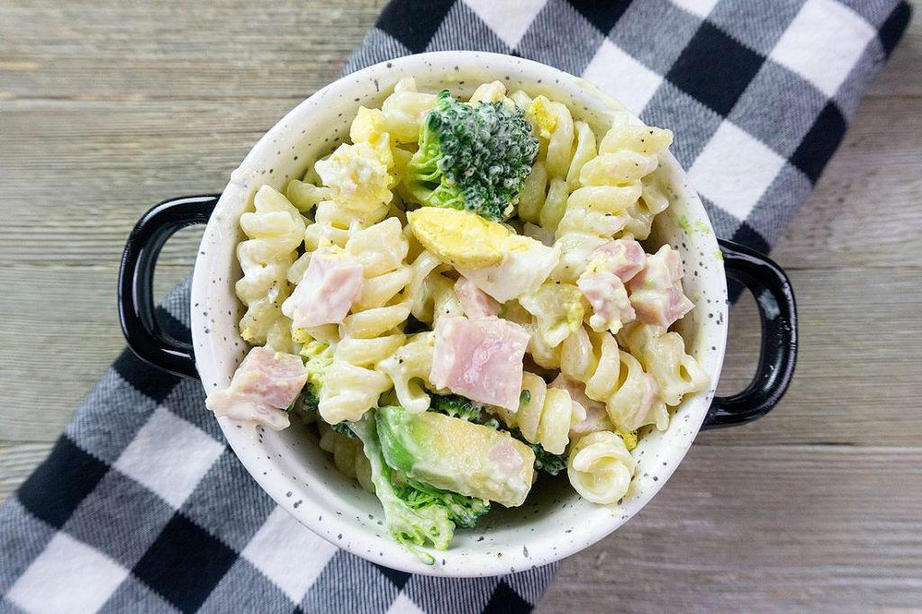 Creamy Ham Pasta Salad