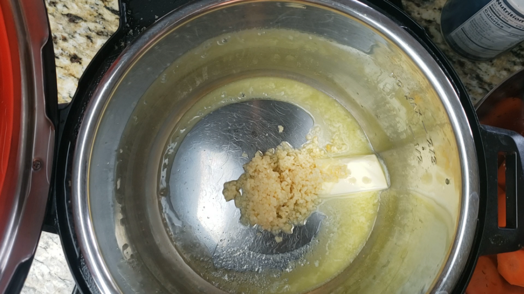 Garlic and Butter in the instant pot